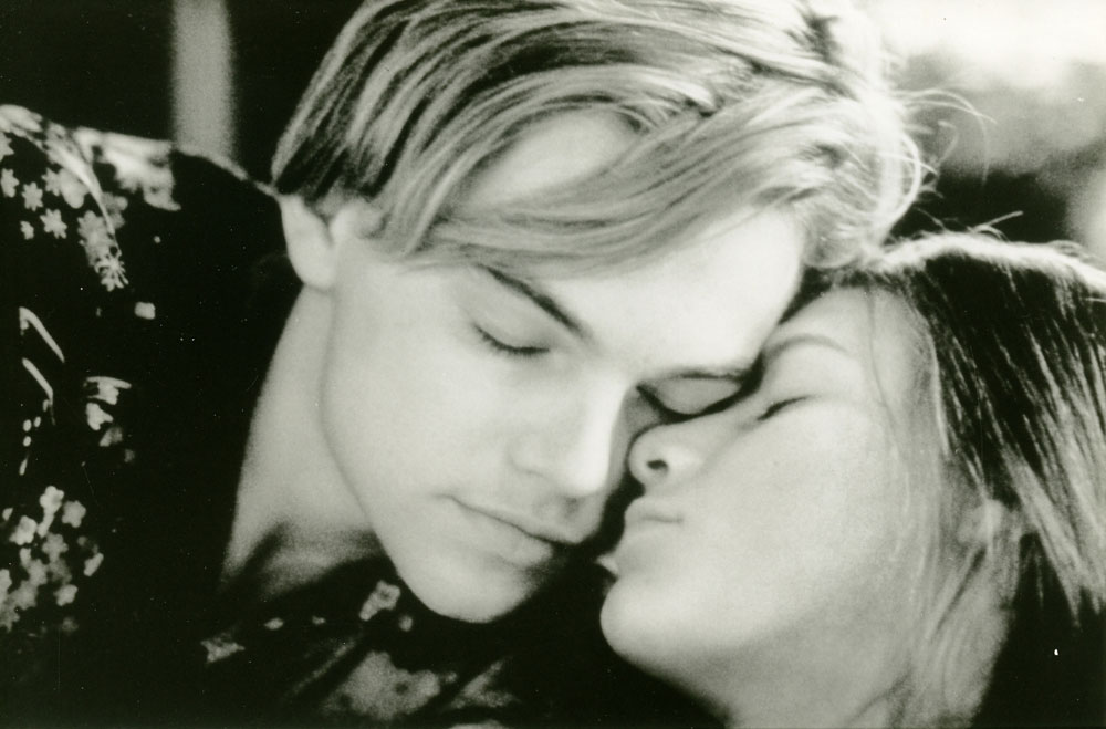 Leonardo Dicaprio And Claire Danes Romeo And Juliet Romeo + Juliet (1996)